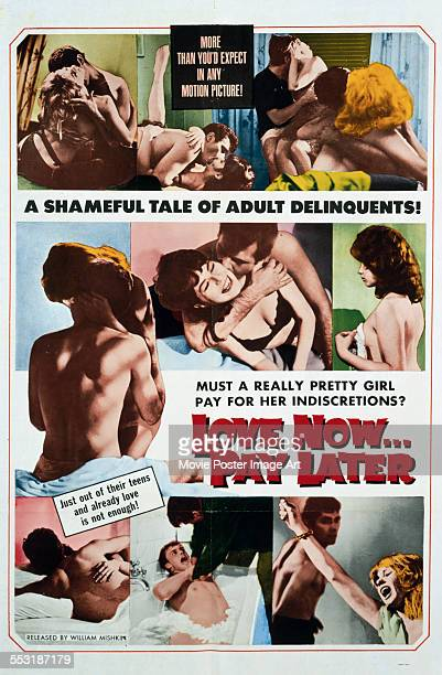 A poster for Gianni Vernuccio's 1959 crime film 'Love Now Pay Later'