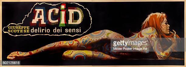 A poster for Giuseppe Maria Scotese's 1968 drama 'Acid Delirio dei Sensi'