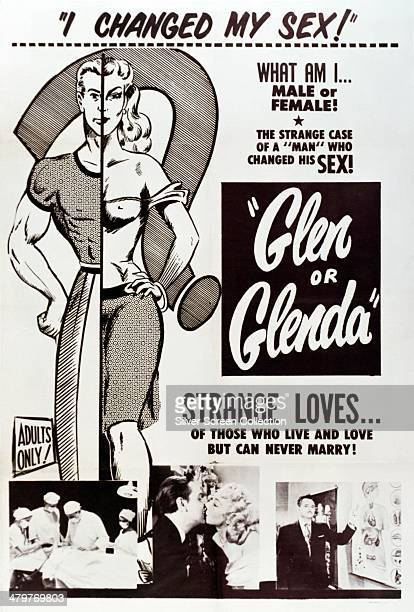 A poster for 'Glen Or Glenda' Ed Wood's semiautobiographical docudrama on crossdressing and transsexuality 1953