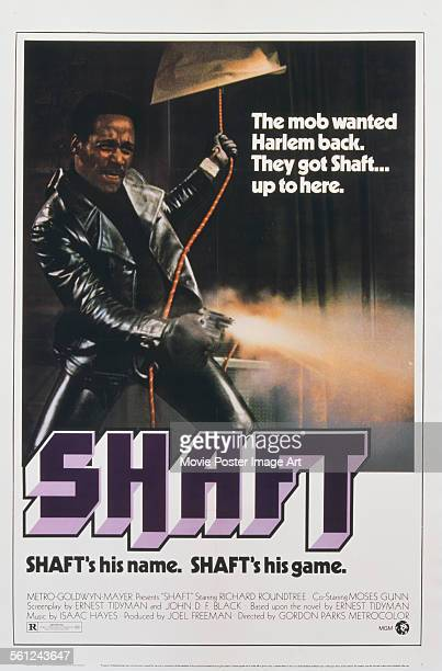 A poster for Gordon Parks' 1971 action film 'Shaft' starring Richard Roundtree