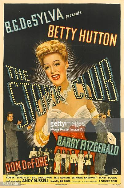 A poster for Hal Walker's 1945 comedy 'The Stork Club' starring Betty Hutton