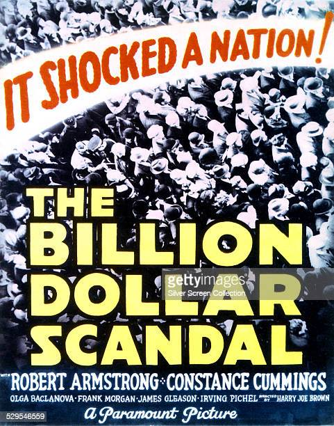 A poster for Harry Joe Brown's 1933 crime drama 'Billion Dollar Scandal' starring Robert Armstrong and Constance Cummings