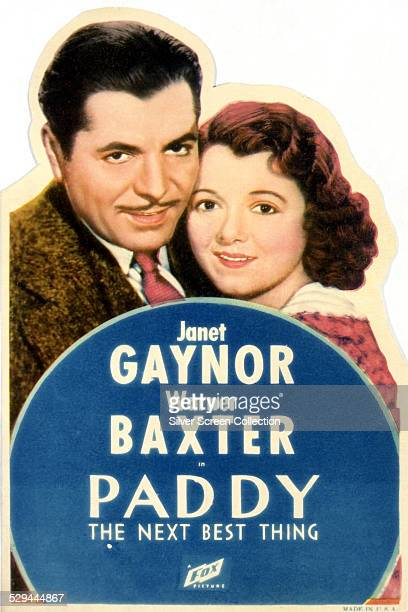 A poster for Harry Lachman's 1933 romantic comedy 'Paddy The Next Best Thing' starring Janet Gaynor and Warner Baxter