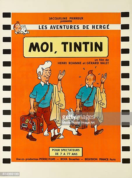 A poster for Henri Roanne and Gérard Valet's 1976 documentary 'I Tintin'