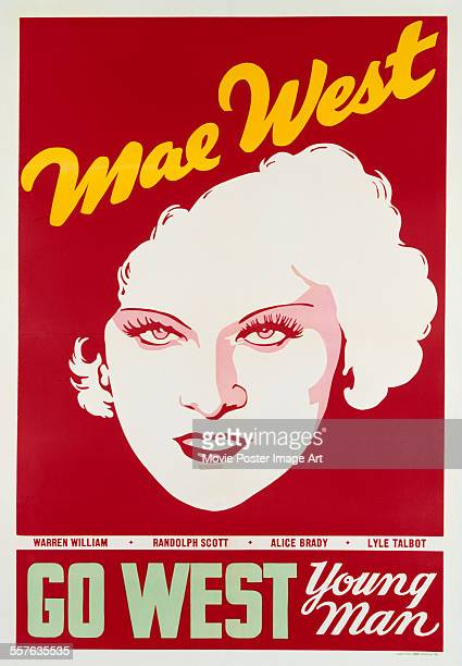 Poster for Henry Hathaway's 1936 comedy 'Go West Young Man' starring Mae West.
