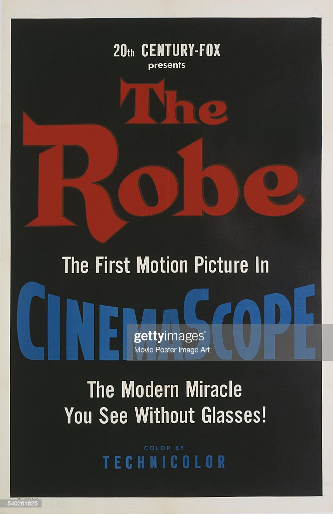 A poster for Henry Koster's 1953 Biblical epic, 'The Robe