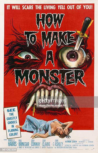 A poster for Herbert L Strock's 1958 horror 'How to Make a Monster'