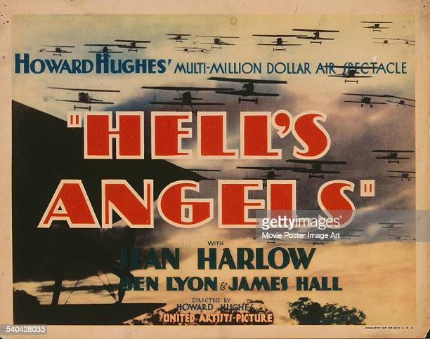 Poster for Howard Hughes' 1930 war film, 'Hell's Angels', starring Jean Harlow.