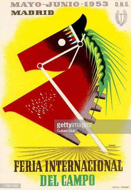 Feria Internacional del Campo Madrid Spain May June 1953 Poster for international agricultural fair