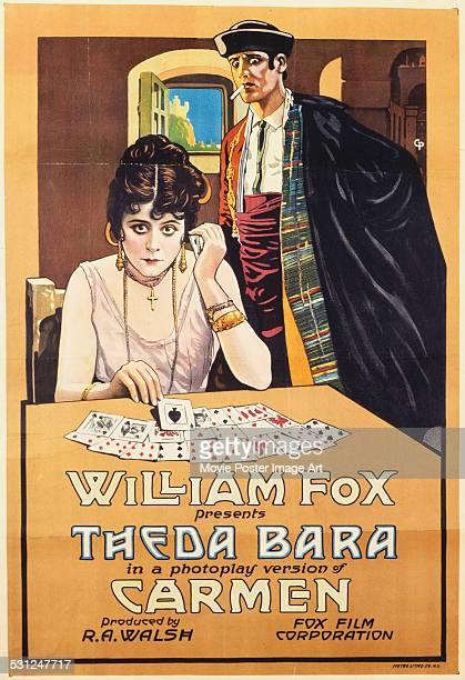 A poster for J Gordon Edwards' 1917 biopic 'Cleopatra' starring Theda Bara