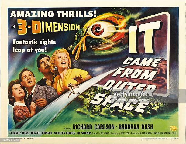 A poster for Jack Arnold's 3D science fiction horror film 'It Came from Outer Space' 1953