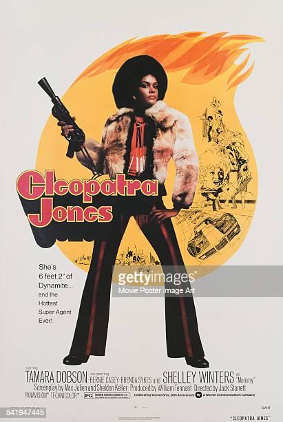 A poster for Jack Starrett's 1973 action film 'Cleopatra Jones' starring Tamara Dobson