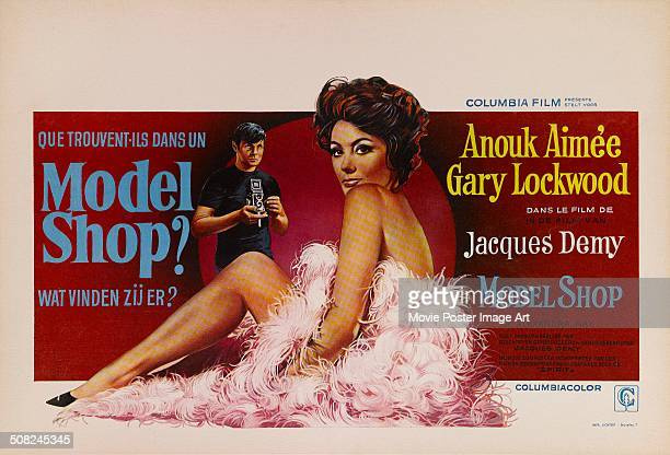 A poster for Jacques Demy's 1969 drama 'Model Shop' starring Anouk Aimée and Gary Lockwood