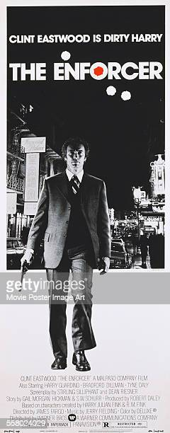 A poster for James Fargo's 1976 action film 'The Enforcer' starring Clint Eastwood
