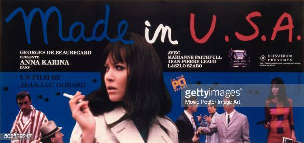 A poster for JeanLuc Godard's 1966 comedy 'Made in USA' starring Anna Karina