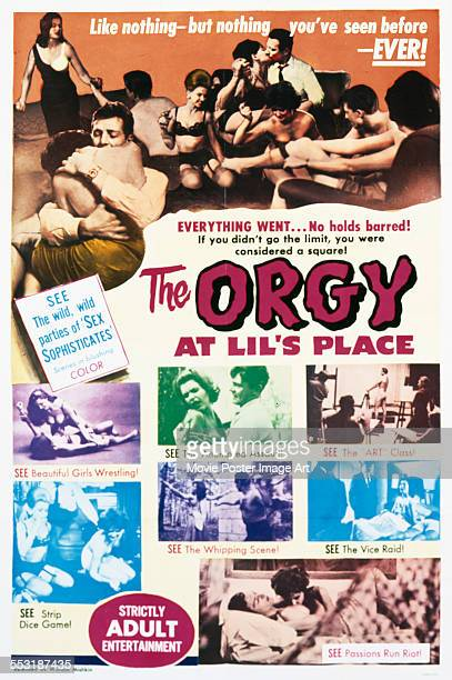 A poster for Jerald Intrator's 1963 drama 'Orgy at Lil's Place'