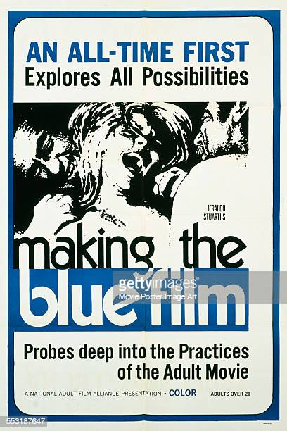 A poster for Jerald Intrator's 1971 adult documentary 'Making the Blue Film'