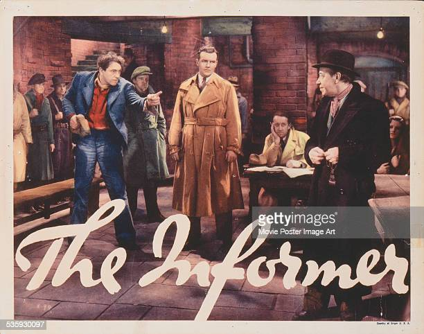 A poster for John Ford's 1935 drama 'The Informer' starring Victor McLaglen