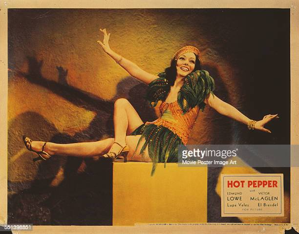 A poster for John G Blystone's 1933 comedy 'Hot Pepper' starring Lupe Vélez