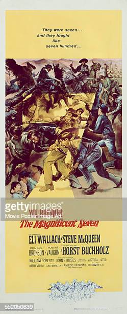 A poster for John Sturges' 1960 western 'The Magnificent Seven'