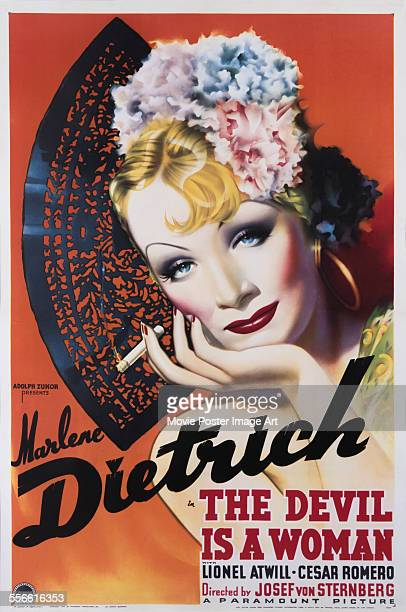 A poster for Josef von Sternberg's 1935 comedy 'The Devil Is a Woman' starring Marlene Dietrich