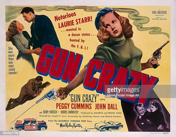 A poster for Joseph H Lewis' 1950 crime film 'Gun Crazy' starring John Dall and Peggy Cummins