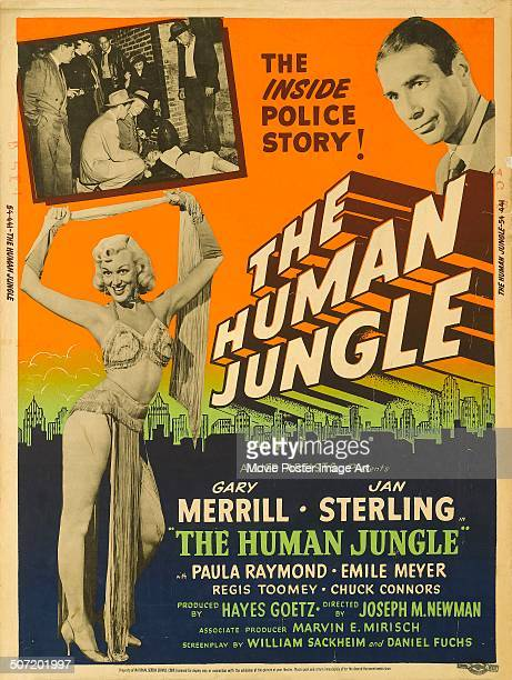 A poster for Joseph M Newman's 1954 crime film 'The Human Jungle' starring Gary Merrill and Jan Sterling