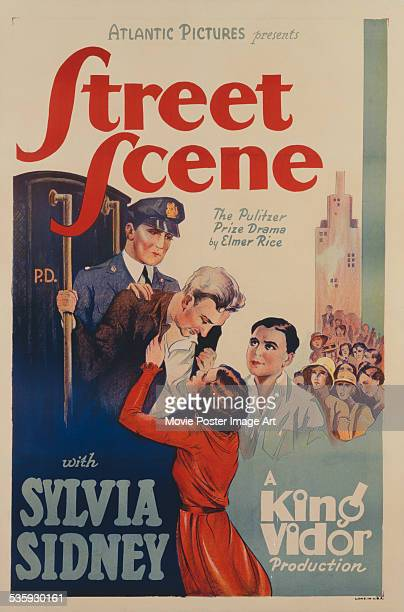 A poster for King Vidor's 1931 drama 'Street Scene' starring Sylvia Sidney and William Collier Jr