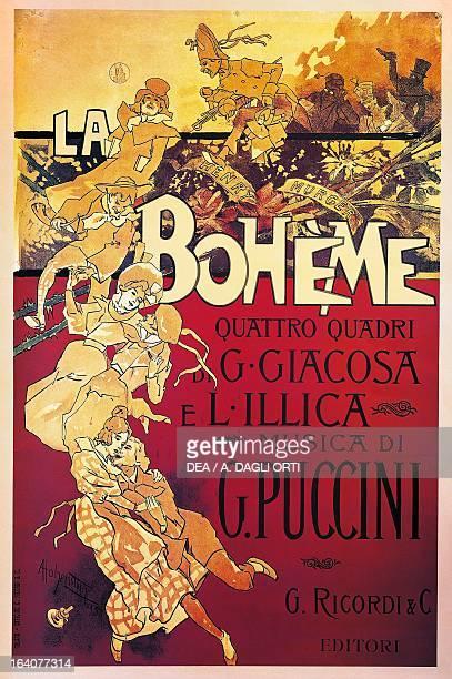 Poster for La Boheme opera by Giacomo Puccini Lucca Casa Di Giacomo Puccini