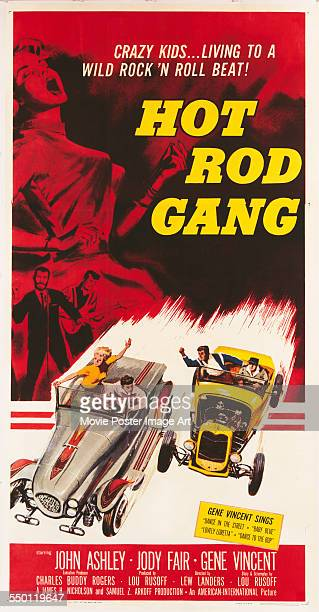A poster for Lew Landers' 1958 drama 'Hot Rod Gang'