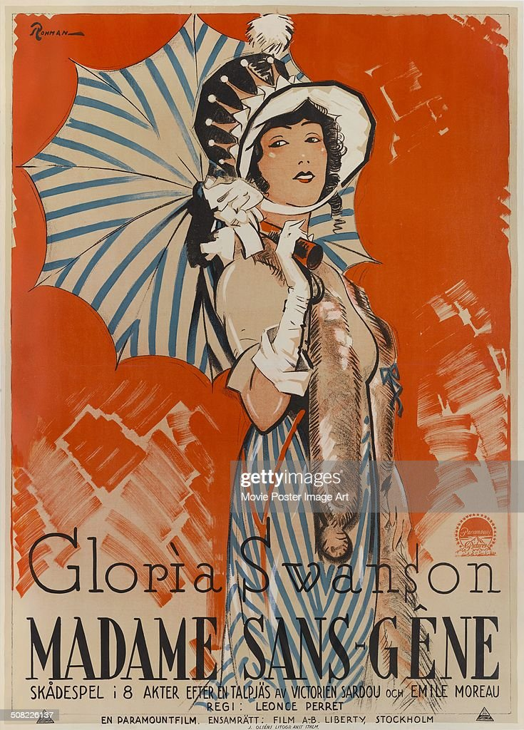 A poster for Léonce Perret's 1925 comedy 'Madame Sans-Gêne' starring Gloria Swanson.