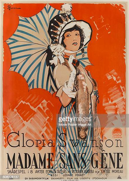 A poster for Léonce Perret's 1925 comedy 'Madame SansGêne' starring Gloria Swanson