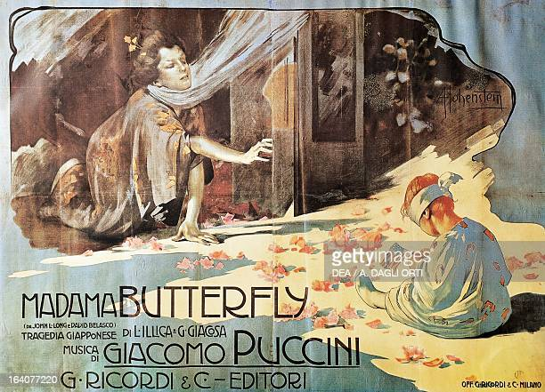 Poster For Madame Erfly Opera By Giacomo Puccini Lucca Casa Di