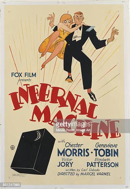 A poster for Marcel Varnel's 1933 film 'Infernal Machine' starring Chester Morris and Genevieve Tobin