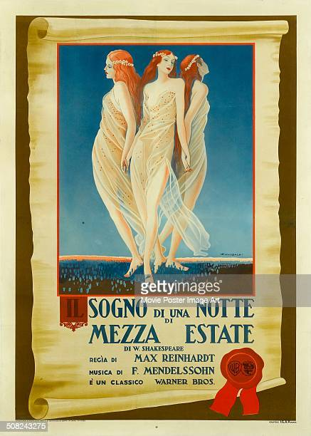 A poster for Max Reinhardt's 1935 comedy film 'A Midsummer Night's Dream'