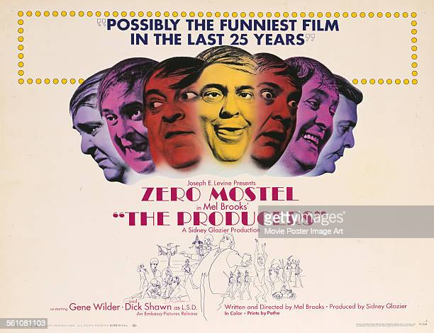 A poster for Mel Brooks' 1967 comedy 'The Producers' starring Zero Mostel