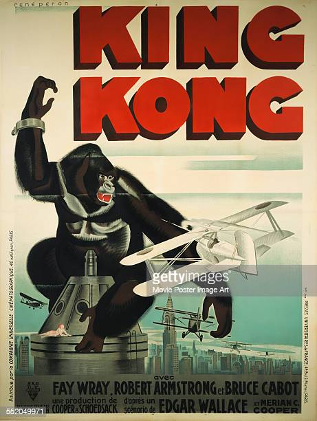 Poster for Merian C. Cooper's 1933 adventure film 'King Kong'.