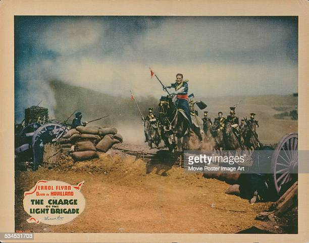 A poster for Michael Curtiz's 1936 action film 'The Charge of the Light Brigade' starring Errol Flynn
