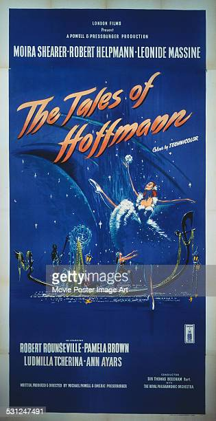 A poster for Michael Powell and Emeric Pressburger's 1951 musical film 'The Tales of Hoffmann' starring Moira Shearer