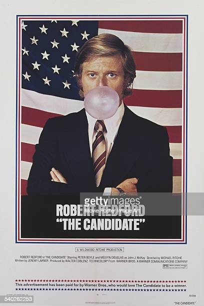 A poster for Michael Ritchie's 1972 satirical comedydrama 'The Candidate' starring Robert Redford