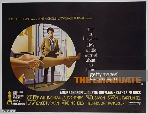 A poster for Mike Nichols' 1967 comedy 'The Graduate' starring Dustin Hoffman