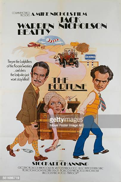 A poster for Mike Nichols' 1975 comedy 'The Fortune' starring Stockard Channing Jack Nicholson and Warren Beatty