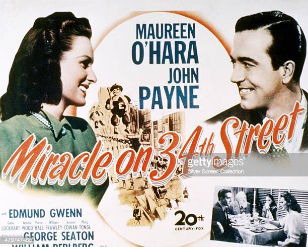 Poster for 'Miracle on 34th Street', directed by George Seaton and starring Maureen O'Hara and John Payne, 1947.