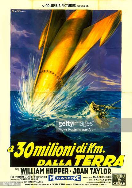 Poster for Nathan Juran's 1957 science fiction film '20 Million Miles to Earth'.