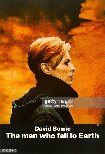 A poster for Nicolas Roeg's 1976 science fiction film 'The Man Who Fell to Earth' starring David Bowie