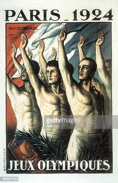 Poster for Olympic Games in Paris in 1924 by Jean Droit