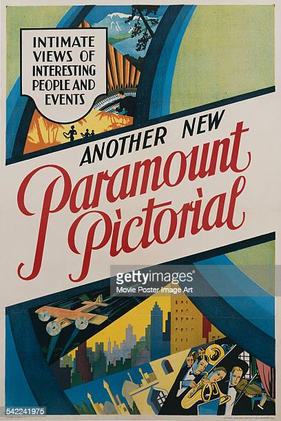 A poster for one of the 'Paramount Pictorial' series of short films shot for Paramount Pictures circa 1939