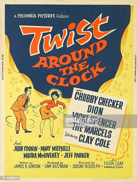 A poster for Oscar Rudolph's 1961 musical 'Twist Around the Clock'