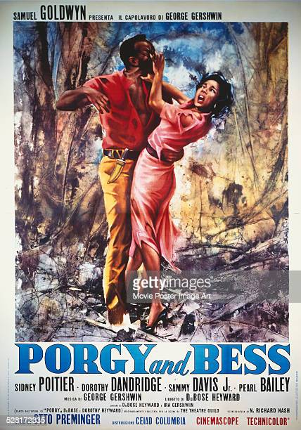 A poster for Otto Preminger's 1959 drama 'Porgy and Bess' starring Dorothy Dandridge and Brock Peters