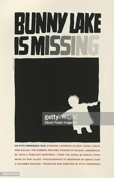 A poster for Otto Preminger's 1965 thriller 'Bunny Lake Is Missing'